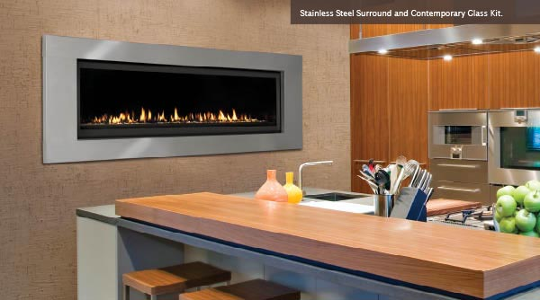 Majestic Aura Fireplace Kitchen