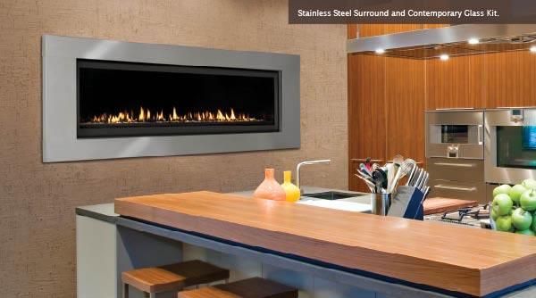 Majestic Aura Fireplace Kitchen