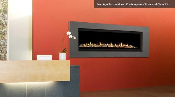 Majestic Aura Fireplace Living Room